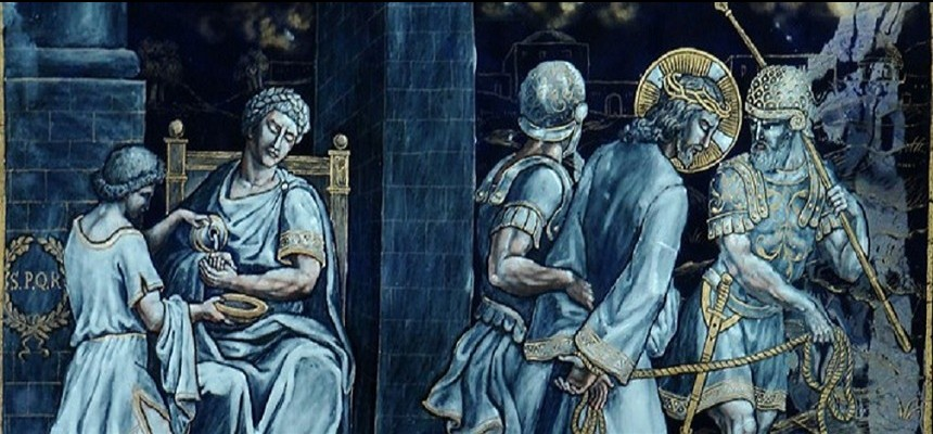 """The First Station of the Cross: A Mercy Reflection on """"Washing one's hands"""" and Condemning"""
