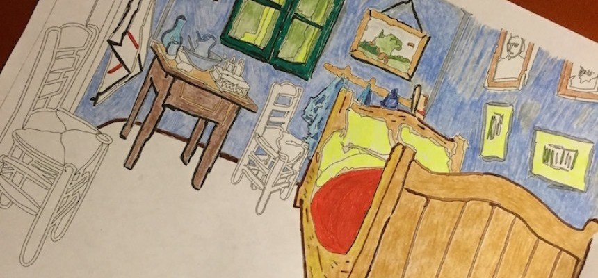Coloring, Catholicism, Van Gogh and Chagall's White Crucifixion