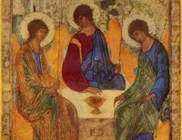 To paint the face of the Blessed Trinity